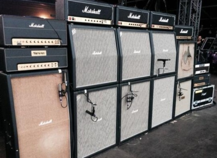 Backline guitar amplifiers